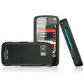 IMAK Ultrathin Color Covers Hard Cases for Nokia 5800 - Black (High transparent screen protector)