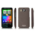 IMAK Ultrathin Matte Color Covers Hard Back Cases for HTC Desire HD A9191 A9192 G10 - Brown (High transparent screen protector)