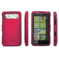 IMAK Ultrathin Matte Color Covers Hard Back Cases for HTC HD7 T9292 - Red (High transparent screen protector)