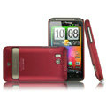 IMAK Ultrathin Matte Color Covers Hard Back Cases for HTC Incredible HD - Red