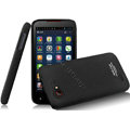 IMAK Ultrathin Matte Color Covers Hard Cases for Amoi N820 - Black (High transparent screen protector)