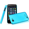 IMAK Ultrathin Matte Color Covers Hard Cases for Amoi N820 - Blue (High transparent screen protector)