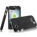 IMAK Ultrathin Matte Color Covers Hard Cases for Amoi N89 - Black (High transparent screen protector)