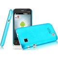 IMAK Ultrathin Matte Color Covers Hard Cases for Amoi N89 - Blue (High transparent screen protector)