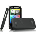 IMAK Ultrathin Matte Color Covers Hard Cases for HTC A6390 - Black (High transparent screen protector)