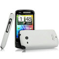 IMAK Ultrathin Matte Color Covers Hard Cases for HTC A6390 - White (High transparent screen protector)