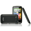 IMAK Ultrathin Matte Color Covers Hard Cases for HTC Desire S G12 S510e - Black (High transparent screen protector)