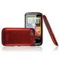 IMAK Ultrathin Matte Color Covers Hard Cases for HTC Desire S G12 S510e - Red (High transparent screen protector)