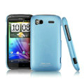 IMAK Ultrathin Matte Color Covers Hard Cases for HTC Pyramid Sensation 4G G14 Z710e - Blue (High transparent screen protector)
