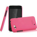 IMAK Ultrathin Matte Color Covers Hard Cases for HTC T328d Desire VC - Rose (High transparent screen protector)