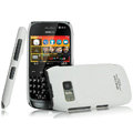 IMAK Ultrathin Matte Color Covers Hard Cases for Nokia 702T - White (High transparent screen protector)