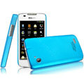 IMAK Ultrathin Matte Color Covers Hard Cases for Philips D633 - Blue (High transparent screen protector)