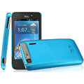 IMAK Ultrathin Matte Color Covers Hard Cases for TCL A860 - Blue (High transparent screen protector)