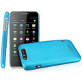 IMAK Ultrathin Matte Color Covers Hard Cases for TCL S900 - Blue (High transparent screen protector)
