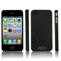 IMAK Ultrathin Matte Color Covers Hard Cases for iPhone 4G\4S - Black (High transparent screen protector)