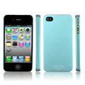 IMAK Ultrathin Matte Color Covers Hard Cases for iPhone 4G\4S - Blue (High transparent screen protector)