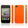 IMAK Ultrathin Matte Color Covers Hard Cases for iPhone 4G\4S - Orange (High transparent screen protector)
