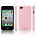 IMAK Ultrathin Matte Color Covers Hard Cases for iPhone 4G\4S - Pink (High transparent screen protector)