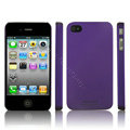 IMAK Ultrathin Matte Color Covers Hard Cases for iPhone 4G\4S - Purple (High transparent screen protector)