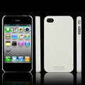 IMAK Ultrathin Matte Color Covers Hard Cases for iPhone 4G\4S - White (High transparent screen protector)