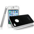 IMAK Ultrathin Double Color Covers Hard Cases for iPhone 4G\4S - Black (High transparent screen protector)