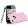 IMAK Ultrathin Double Color Covers Hard Cases for iPhone 4G\4S - Pink (High transparent screen protector)