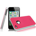 IMAK Ultrathin Double Color Covers Hard Cases for iPhone 4G\4S - Rose (High transparent screen protector)