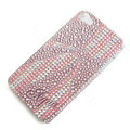 Bling Swarovski crystal cases Bowknot diamond covers for iPhone 5 - Pink