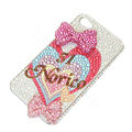 Bling Swarovski crystal cases Bowknot diamond covers for iPhone 5 - Rose