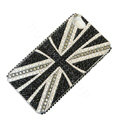 Bling Swarovski crystal cases Britain flag diamond covers for iPhone 5 - Black