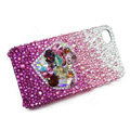 Bling Swarovski crystal cases Love heart diamond covers for iPhone 5 - Purple