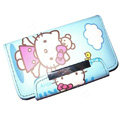 Hello kitty Covers Side Flip leather Cases Holster for LG P970 - Blue