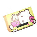 Hello kitty Covers Side Flip leather Cases Holster for LG P970 - Yellow