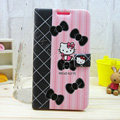 Hello kitty Side Flip leather Cases Covers for Samsung N7100 GALAXY Note2 - Black