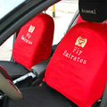 Arsenal FC Universal Auto Car Seat Cover Set 10pcs - Red Black