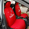 Arsenal FC Universal Auto Car Seat Cover Set 10pcs - Red