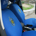 F.C Inter Milano Auto Universal Car Seat Cover Set 10pcs - Blue