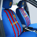 Futbol Club Barcelona Universal Auto Car Seat Cover Set 10pcs - Blue