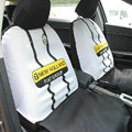 Juventus Universal Auto Car Seat Cover Set 10pcs - White Black