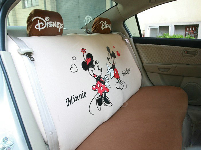 buy wholesale mickey minnie mouse universal auto car seat covers set brown car seat covers. Black Bedroom Furniture Sets. Home Design Ideas