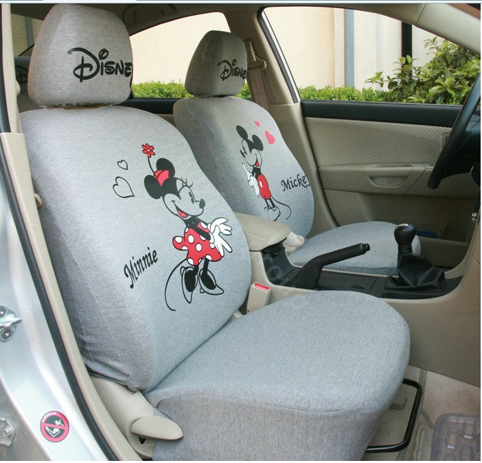 buy wholesale mickey minnie mouse universal auto car seat covers set grey car seat covers. Black Bedroom Furniture Sets. Home Design Ideas