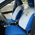 Real Madrid Universal Auto Car Seat Cover Set 10pcs - Blue Grey