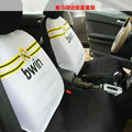 Real Madrid Universal Auto Car Seat Cover Set 16pcs - Black White