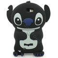 3D Stitch Silicone Cases Skin Covers for Samsung N7100 GALAXY Note2 - Black
