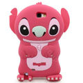3D Stitch Silicone Cases Skin Covers for Samsung N7100 GALAXY Note2 - Pink
