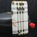 Burberry cover leather cases Holster Skin for Samsung N7100 GALAXY Note2 - White
