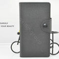Cover Side Flip leather Cases luxury Holster for LG F160L Optimus LTE II 2 - Black