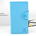 Cover Side Flip leather Cases luxury Holster for LG F160L Optimus LTE II 2 - Blue