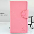 Cover Side Flip leather Cases luxury Holster for LG F160L Optimus LTE II 2 - Pink
