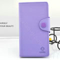 Cover Side Flip leather Cases luxury Holster for LG F160L Optimus LTE II 2 - Purple